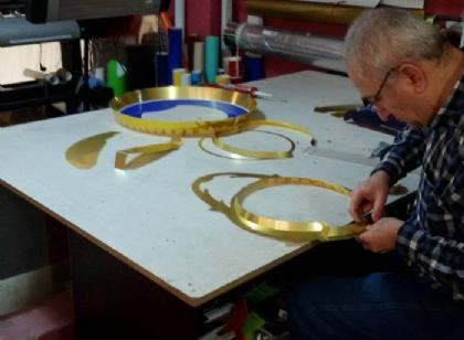 3D polis logosu imalat çalışmaları